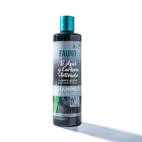Shampoo Fauno Pelo Graso Té Azul y Carbón Activado 400 ml