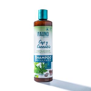 Shampoo Fauno Sin Sal y Sulfatos Café y Cannabis Cabello Mixto o Seco 400 ml