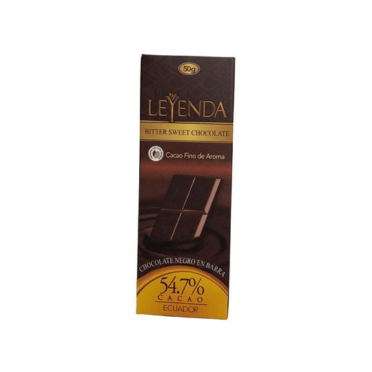 Barra de Chocolate (chocolatina) al 54.7%  50g
