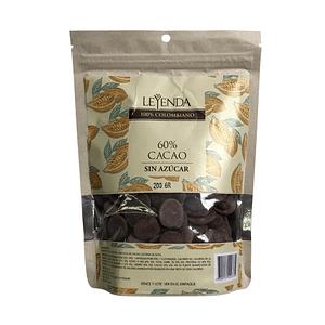Moneditas Cacao sin Azúcar 60% 200 g