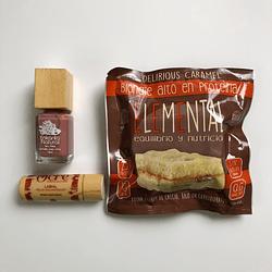 Esmalte Ten Free + Blondie rico en proteína y fibra + Brillo o labial vegano