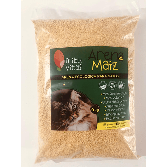 Arena para gatos ecológica x 4 kg - Image 1