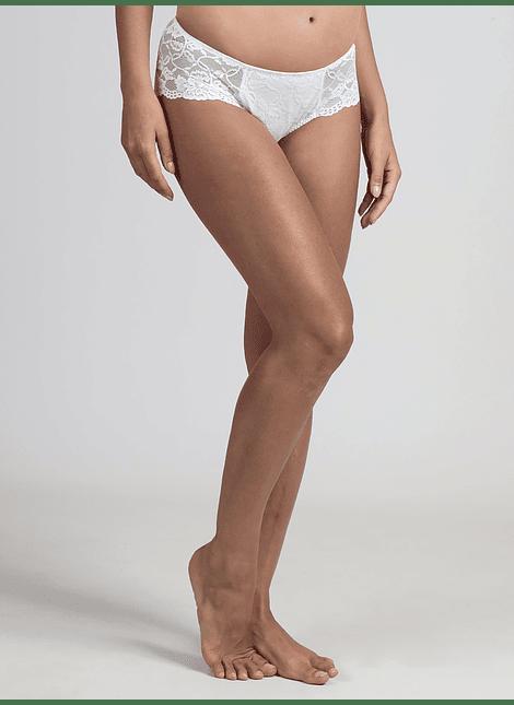Calzón encaje premamá blanco