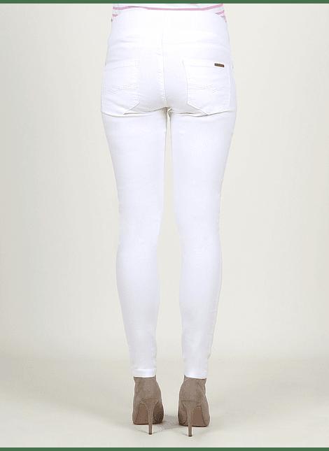 Jeans blanco tiro bajo
