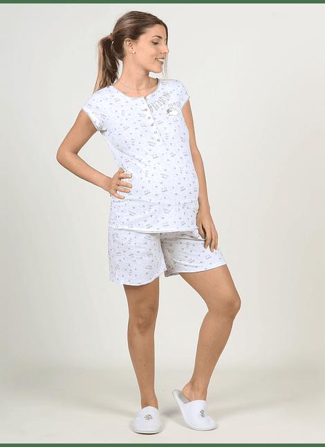 Conjunto short y polera pijama Ovejas