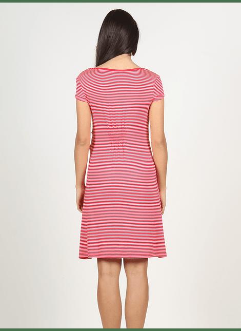 Vestido rayas rojo