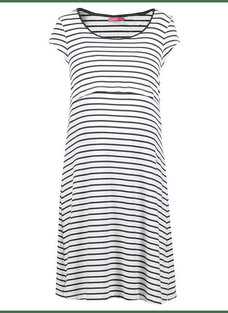 Vestido rayas blanco y azul