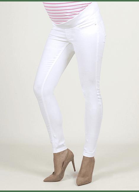 Jeans Slim blanco cintura baja