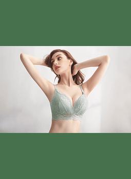 Sostén verde tipo bralette