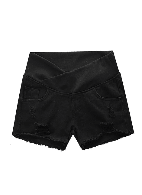 Short negro cintura baja