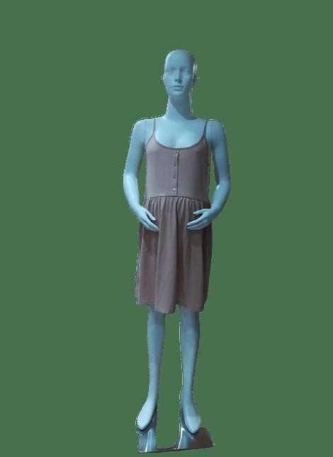 Vestido damasco botones