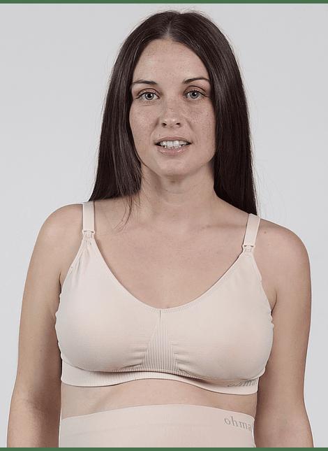 Sostén de lactancia sin costuras nude