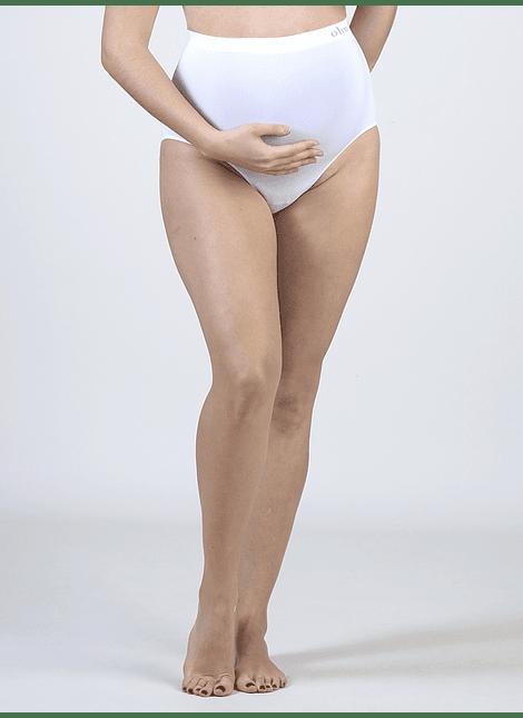 Calzón maternal sin costura blanco