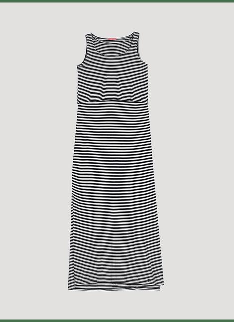 Vestido largo lactancia de rayas