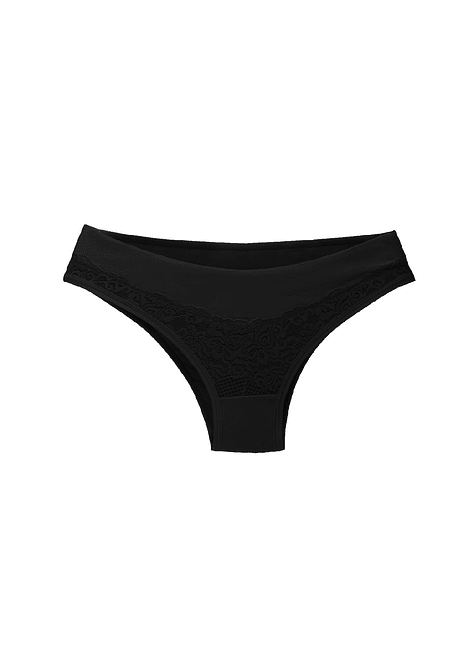 Calzón  con encaje negro