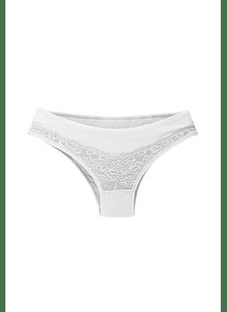 Calzón  con encaje blanco
