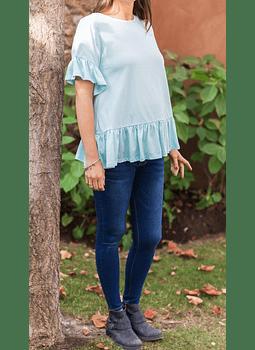 Blue jeans Maternal brillo en bolsillo