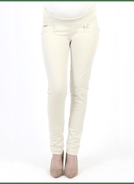 Pantalón básico Beige con cintura baja
