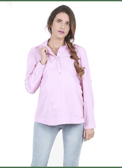 Blusa manga larga rayada rosada maternal y lactancia
