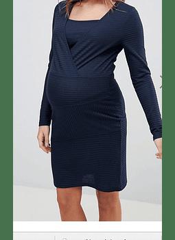 Vestido Azul maternal y lactancia