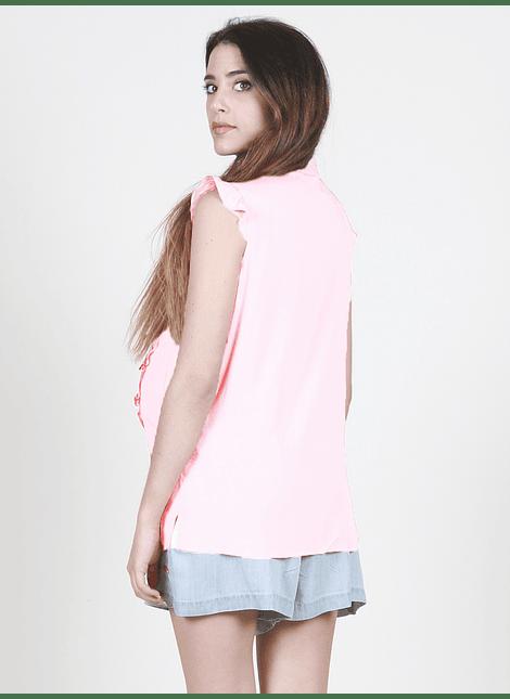 Blusa sin mangas lactancia rosada
