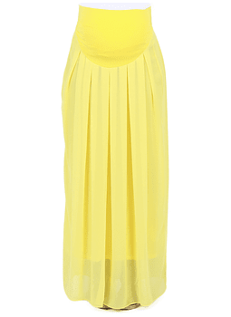 Falda larga georgette Amarilla
