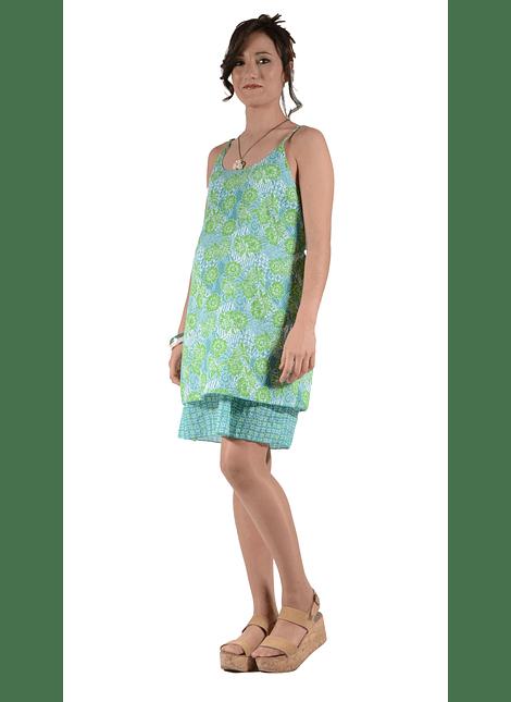 Vestido Tirantes verde