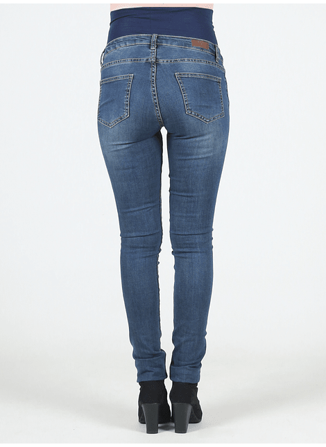 Jeans maternal skinny con bordados