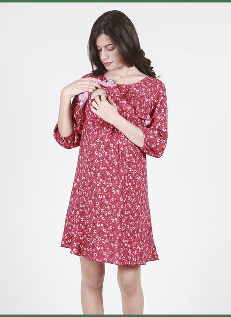 Vestido maternal y lactancia flores