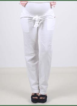 Pantalon de lino blanco