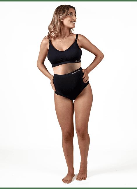 Calzón maternal sin costuras negro