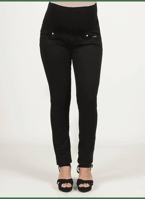 Pantalón negro básico cintura alta
