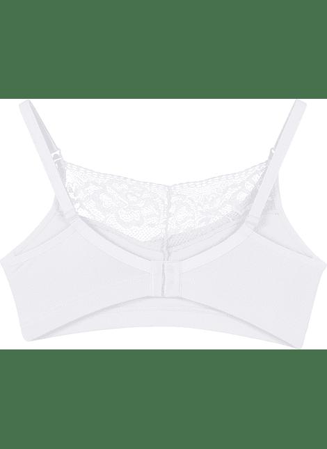 Sosten semi-encaje Blanco