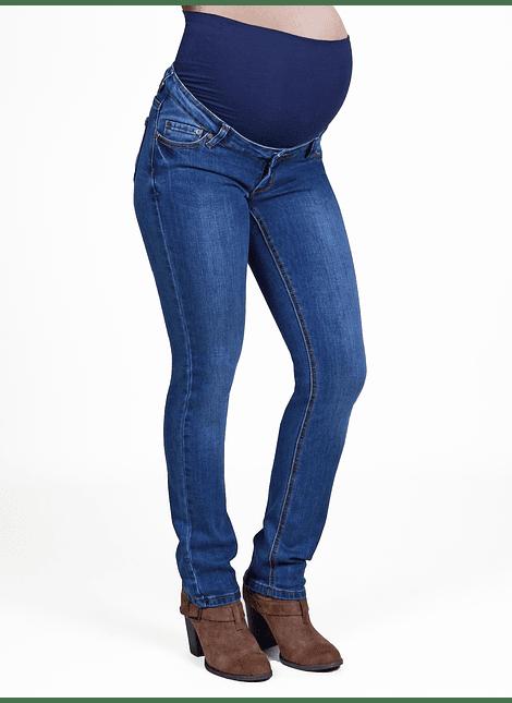Jeans recto cintura alta