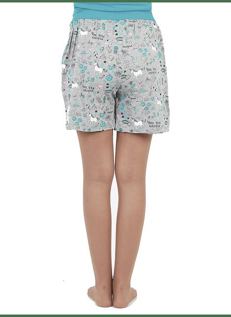 Short pijama estampado