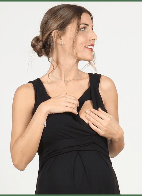 Vestido escote cruzado negro
