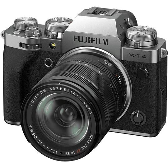 FUJIFILM X-T4 Kit Cámara Mirrorless con Lente 18-55mm (Silver) - Image 1
