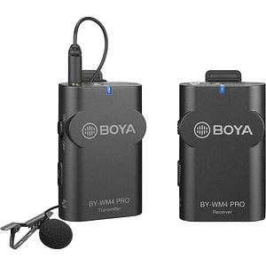 BOYA BY-WM4 PRO-K1 Micrófono Lavalier Wireless para Smartphone y Cámaras DSLR
