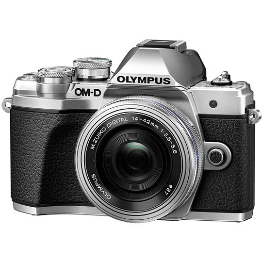 Olympus OM-D E-M10 Mark III KIT Cámara Mirrorless Micro 4/3 con Lentes 14-42mm EZ + 40-150mm R (SILVER) - Image 2