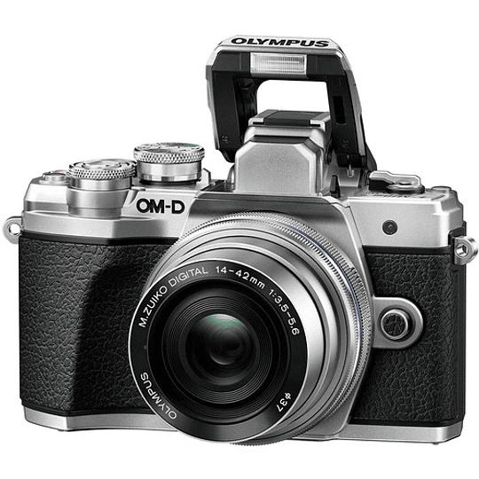 Olympus OM-D E-M10 Mark III KIT Cámara Mirrorless Micro 4/3 con Lentes 14-42mm EZ + 40-150mm R (SILVER) - Image 3