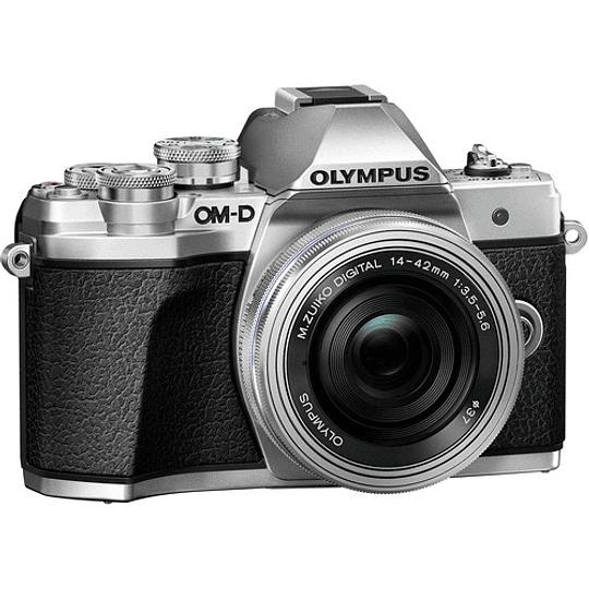 Olympus OM-D E-M10 Mark III KIT Cámara Mirrorless Micro 4/3 con Lentes 14-42mm EZ + 40-150mm R (SILVER) - Image 5