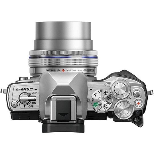 Olympus OM-D E-M10 Mark III KIT Cámara Mirrorless Micro 4/3 con Lentes 14-42mm EZ + 40-150mm R (SILVER) - Image 6