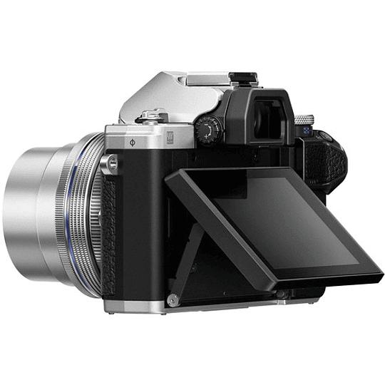 Olympus OM-D E-M10 Mark III KIT Cámara Mirrorless Micro 4/3 con Lentes 14-42mm EZ + 40-150mm R (SILVER) - Image 7