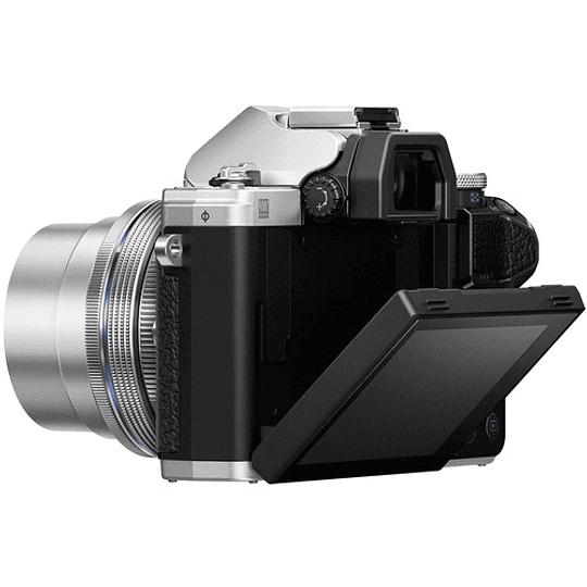 Olympus OM-D E-M10 Mark III KIT Cámara Mirrorless Micro 4/3 con Lentes 14-42mm EZ + 40-150mm R (SILVER) - Image 8