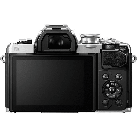 Olympus OM-D E-M10 Mark III KIT Cámara Mirrorless Micro 4/3 con Lentes 14-42mm EZ + 40-150mm R (SILVER) - Image 9