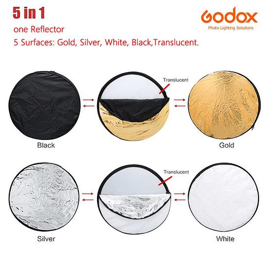 Godox RFT-06-60 Disco Reflector Plegable 5 en 1 de 60cm  - Image 3