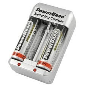 PowerBase C-423U Cargador con 2 pilas AA 2700mAh