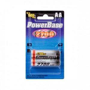 POWERBASE CP30004 Pack de 2 Pilas Recargables AA 2700mAh