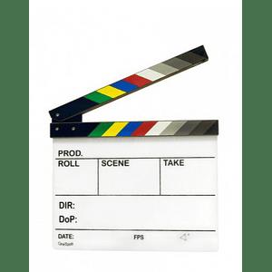 POWERWIN CLAPPERBOARD-AC Claqueta Acrílica de Cine Profesional 30x25