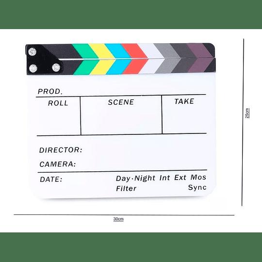 POWERWIN CLAPPERBOARD-AC Claqueta Acrílica de Cine Profesional 30x25 - Image 2